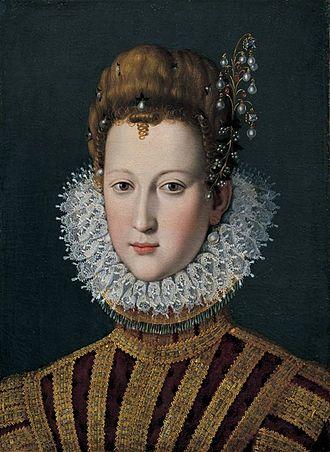 Marie de' Medici - Portrait of Marie de' Medici as a young girl.