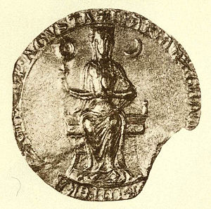 Maria of Brabant, Holy Roman Empress - Seal of Marie of Brabant.