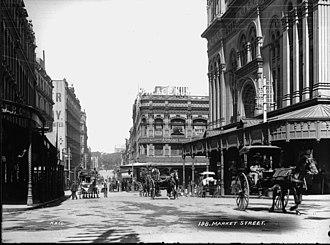 Market Street, Sydney - Market Street, ca. 1900