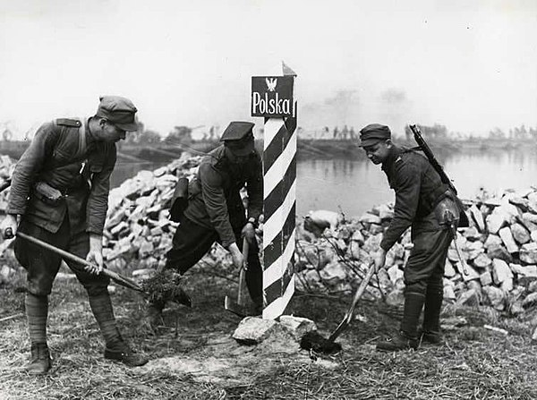 Marking Polish-German Border in 1945
