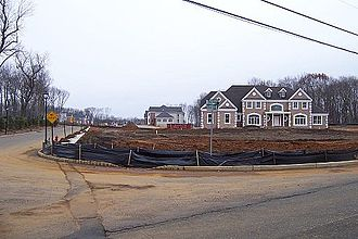 Marlboro Township, New Jersey - New houses under construction off Buckley Road, late 2005