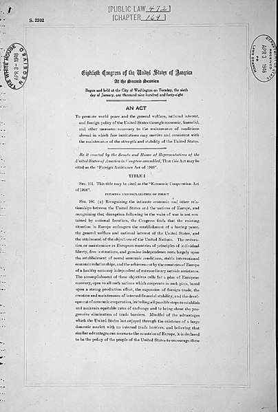 File marshall plan page wikimedia commons - The marshall plan was designed to ...