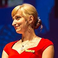 Marta Markowska at the Hugo Award Ceremony at Worldcon in Helsinki 2017 (cropped).jpg