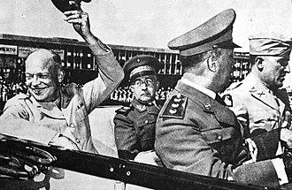 João Baptista Mascarenhas de Morais - Morais with General Dwight D. Eisenhower