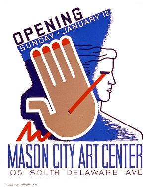 Federal Art Project - Poster for the opening of the Mason City Art Center, Mason City, Iowa (1941)