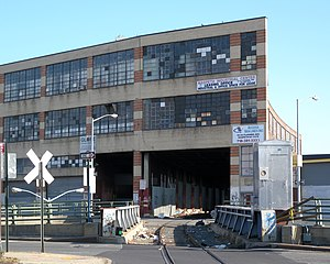 Maspeth, Queens - The Long Island Rail Road's freight-only Bushwick Branch runs through the Maspeth Industrial Center.