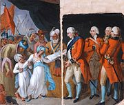 Mather-brown-lord-cornwallis-receiving-the-sons-of-tipu-as-hostages-1792