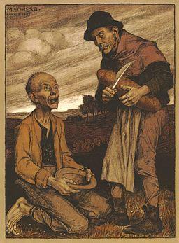 Matthäus Schiestl Die Almosen des Armen