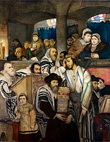 Maurycy Gottlieb - Jews Praying in the Synagogue on Yom Kippur
