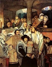 Maurycy Gottlieb - Jews Praying in the Synagogue on Yom Kippur.jpg
