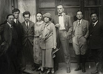 Boris Pasternak - Pasternak (second from left) in 1924, with friends including Lilya Brik, Sergei Eisenstein (third from left) and Vladimir Mayakovsky (centre)