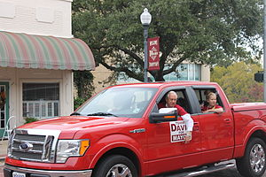 Tommy Davis (Louisiana politician) - Mayor Tommy Davis campaigning in the 2014 Veterans Day parade