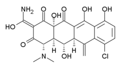 Skeletal formula of meclocycline