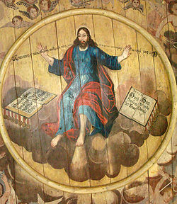 Konstnarlig jesus tas ned fran korset