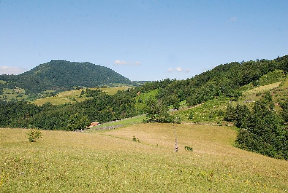 Medvednik - zapadna Srbija - mesto Kozila - pogled na planinu Medvednik 2
