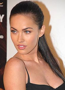 Megan Fox looking over her shoulder.