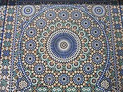 Decorative brightly coloured tiling in Morocco