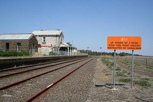 Geelong–Ballarat railway line - Meredith station and crossing loop