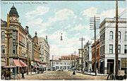 Meridian downtown postcard