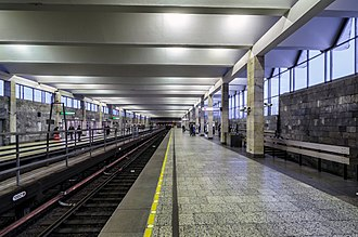 Rybatskoye (Saint Petersburg Metro) - Station Hall