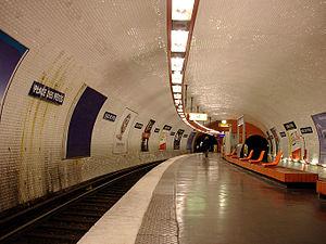 Place des Fêtes (Paris Métro) - Image: Metro de Paris Ligne 7bis Place des Fetes 02