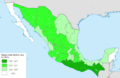 Mexico total fertility rate by state 2014.png