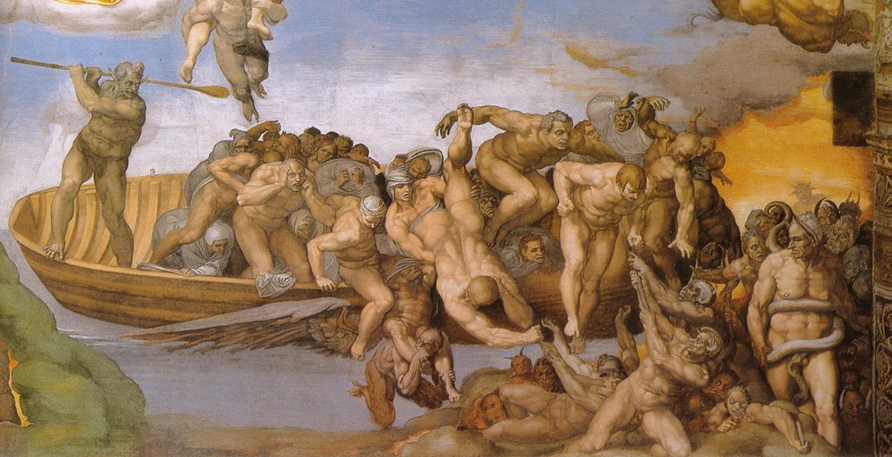 Michelangelo, giudizio universale, dettagli 51 inferno.jpg