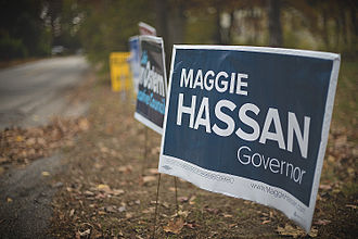 A Maggie Hassan election sign. Midterm Voting Time.jpg