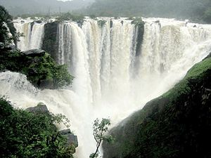Sharavati - Jog Falls formed by the Sharavati river.