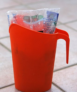 Milk bag - Plastic pitcher for milk bag in Israel