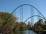 Millennium Force hills over the lagoon.jpg