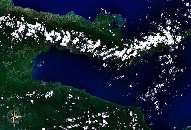 Milne Bay seen from space