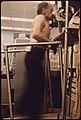 Miner Is Hooked Up to a Breath Machine to Monitor How Much Lung Capacity He Has While Walking on a Treadmill During Tests at the Black Lung Laboratory at the Appalachian Regional Hospital at Beckley, West Virginia 06-1974 (3906461903).jpg