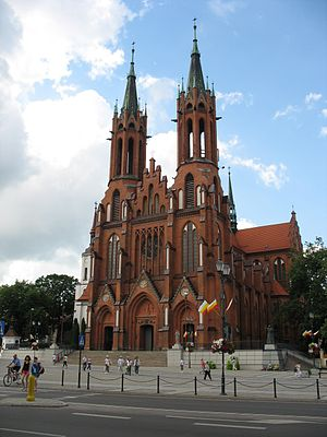 Gothic Revival architecture in Poland - Image: Minor basilica in Bialystok 1