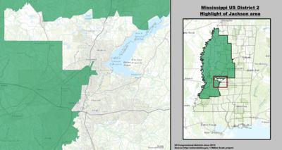 Mississippi's 2nd congressional district - since January 3, 2013.