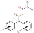 Modafinil substitution pattern 2nd analog series.png