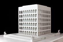 Palazzo della Civiltà italiana, modello del 1940 circa. Esposto al Museo nazionale della scienza e della tecnologia Leonardo da Vinci, Milano.