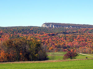 New Paltz, New York - Paltz Point view from east, a view that dominates the town