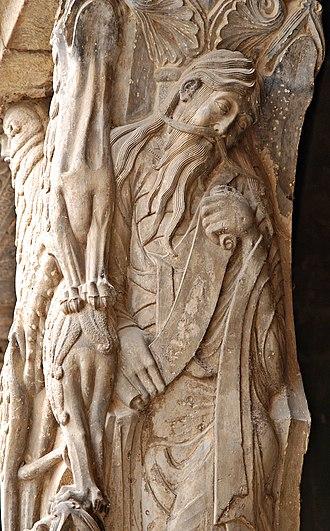 Moissac Abbey - The prophet Jeremiah on the southern portal