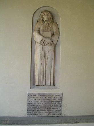 Hospital of Santa Maria Nuova - The monument to the legendary Monna Tessa