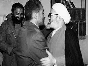 Hussein-Ali Montazeri - Montazeri and then President Mohammad-Ali Rajai