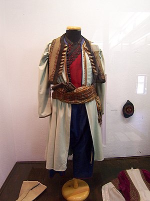 Culture of Montenegro - Male folk costume from Montenegro