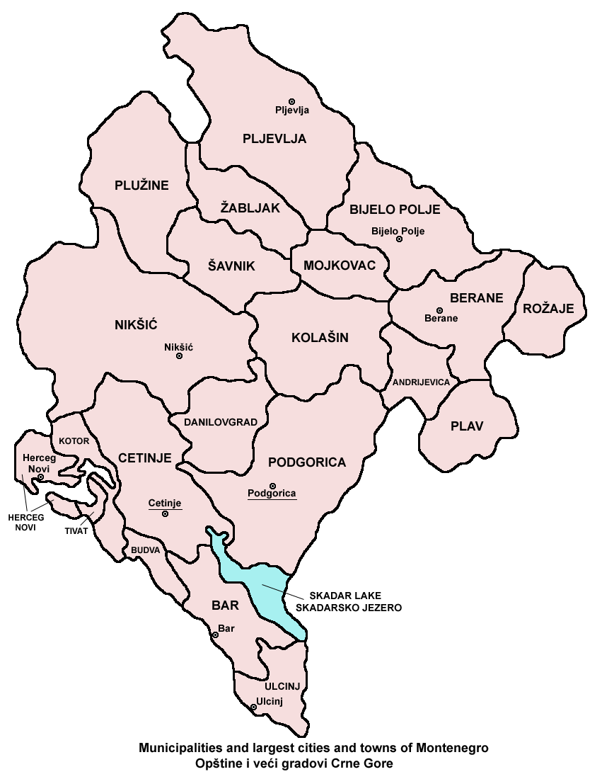 Montenegro municipalities