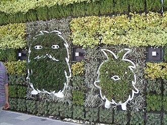 Expo 2005 - Morizo and Kiccoro on flower wall