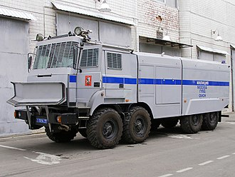 """Ural-5323 - Moscow OMON riot control water cannon """"Lavina-Uragan"""" on Ural-532362, 2011"""