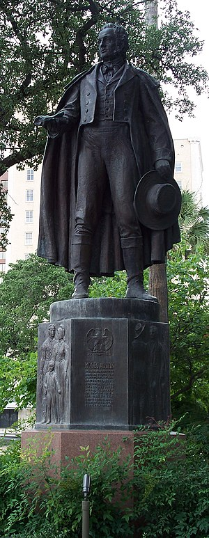Moses Austin - A statue of Moses Austin located in San Antonio, Texas