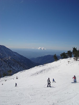 Mount Baldy Ski Lifts - Image: Mount Baldy Over Looking LA