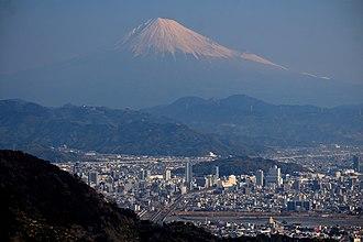 Shizuoka (city) - Mount Fuji and Shizuoka City