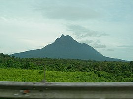 Mount Santubong from Santubong Bridge.jpg