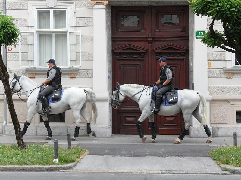 File:Mounted police Ljubljana.JPG